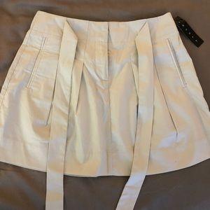Theory pleat mini skirt pockets NWT bow waist 0